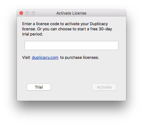 license activation dialog